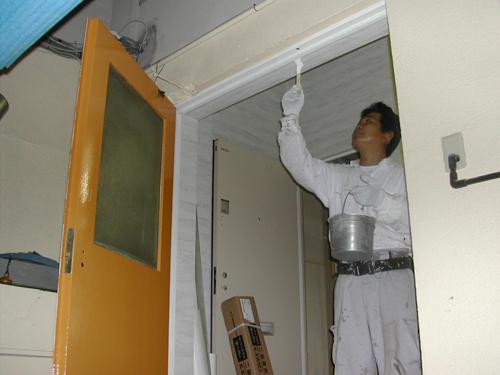 大阪府豊中市:事務所ドア塗装 ...